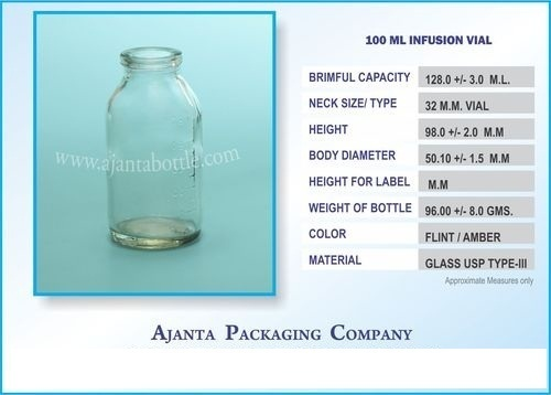 100 Ml Infusion Vial