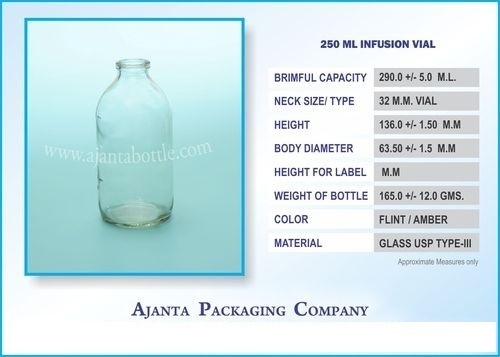 250 Ml Infusion Vial