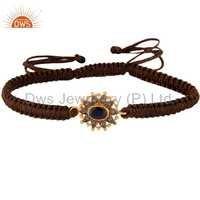 Sterling Silver Diamond Blue Sapphire Bracelet