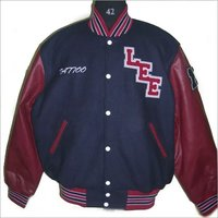 New Varsity Leather Varsity Jacket