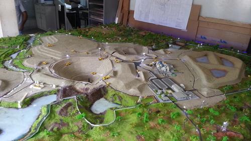 Mines Miniature  Model
