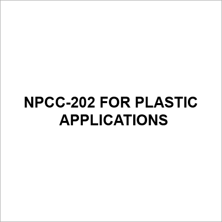 NPCC 202 For Plastic Application