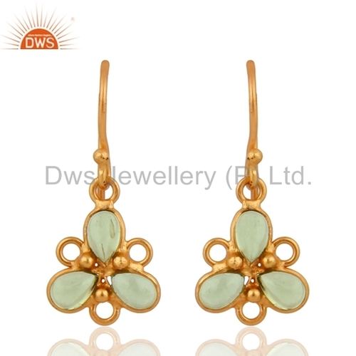 Peridot Gold Plated Silver Earring Jewelry