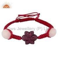 Natural Pink Sapphire Gemstone Bracelet