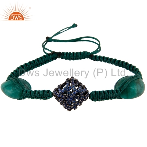 Natural Precious Gemstone 925 Silver Bracelet