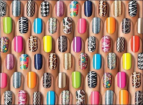 Multi Colored Nail Polish