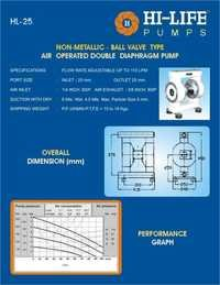Ball Valve Type Diaphragm Pump
