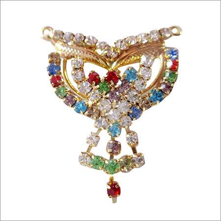 gold polish gemstone pendant without chain