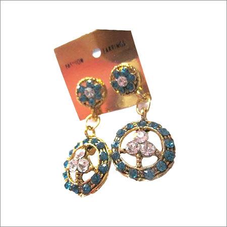 gold polish gemstone Earrings