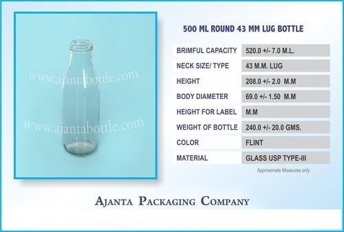 500 Ml Milk Bottle