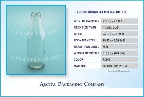 750 Ml Milk Bottle