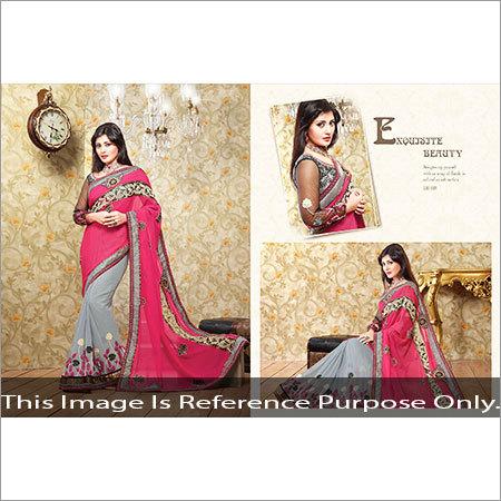 Silk Net Saree