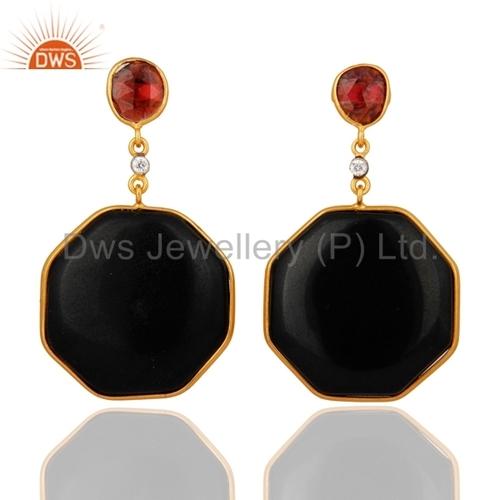 925 Silver Black Onyx Earrings