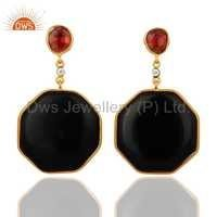 925 Silver Black Onyx Earrings