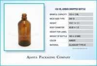 100 Ml Amber Dropper Homeopathic Bottle