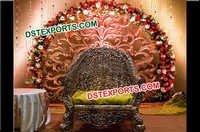Wedding Stage Flower Backdrop Frame/ Fiber Panels