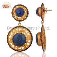 Lapis Lazuli Gemstone 18k Gold Plated Ring
