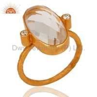 Crystal Quartz 925 Silver Ring
