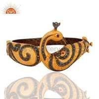 Peacock Design Traditional Diamond Bangle
