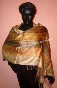 Silk Jacquard Shawl