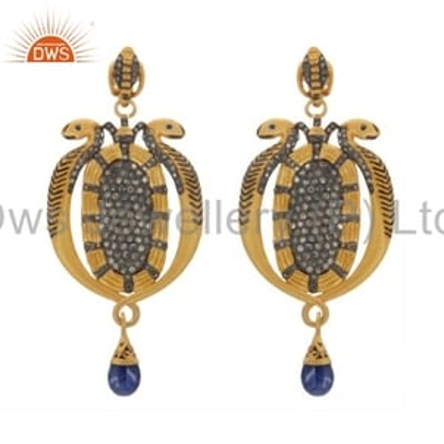 Victorian Design Diamond Earrings Jewelry