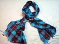 Modal Woven Check Scarves