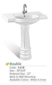 Radiant Pedestal Wash Basin