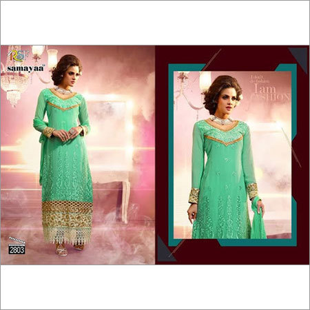 Adorable Green Georgette Salwar kameez