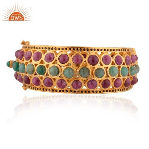 Gold Plated Gemstone Bangle Manufacturer