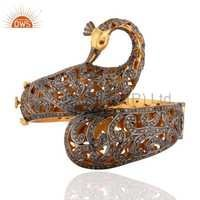 Traditional Natural Diamond Bangle Jewelry