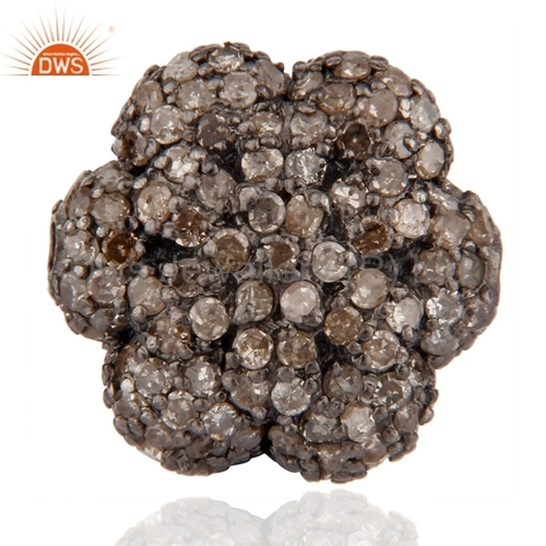 Pave Set Diamond Beads Finding