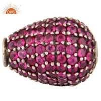 Natural Ruby Gemstone Finding Beads