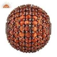 Natural Gemstone Ball Beads Finding Jewelry
