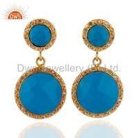 Natural Turquoise Gemstone Earring Jewelry