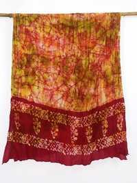 100% Silk tye dye silk scarfs of india