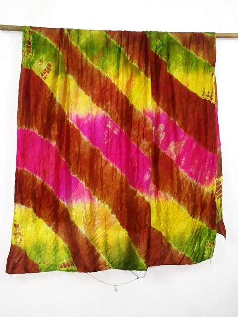 100% Silk tye dye silk scarfs of india
