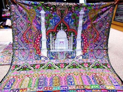 Pashmina Gulab Kaar Print Embroidery Shawls