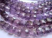 Brazil amethyst 9mm-10mm faceted box beads single strand 8 inch