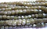 vassonite 8mm-9mm faceted box beads single strand 8 inch