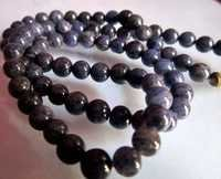 Blue aventurian 5mm-6mm round beaded necklace 18inch