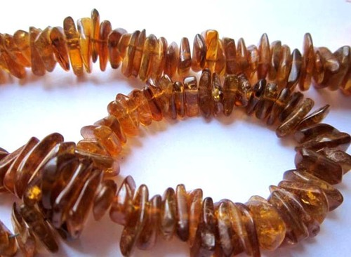 Citrine plain nuggets beads single strand 14 inch 12mm-9mm