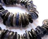 Iolite plain nuggets beads single strand 10 inch 7mm to14mm