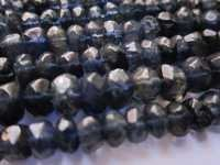 Iolite faceted rondell 4-5mm beads single strand 13inch
