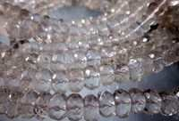 crystal faceted rondell beads single strand 7 inch 8mm-9mm