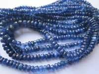 kyanite faceted rondelle beads single strand  3.5-5.5mm 17 inch