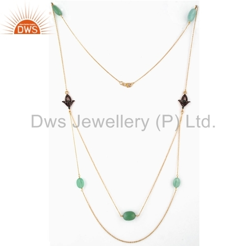 Manufacturer Gemstone Diamond Necklace