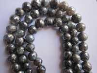 Labradorite coated faceted round single strand 8inch 11mm