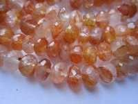 crystal faceted rondelle beads single strand 9mm-10mm 8inch