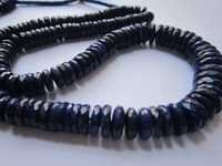 lapis lazuli faceted heishi beads single strand 16inch 7mm -12mm 158 pcs