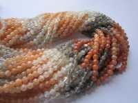 multi moonstone plain round beads single strand 15 inch 4mm